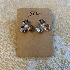 J. Crew Women's Flower Rhinestone Stud Earrings